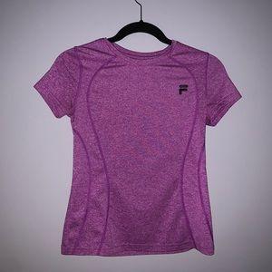 FILA purple athletic tee~ size L